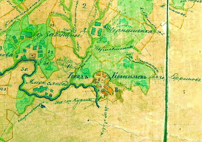 Новосиль на карте 1790 года (271.85КиБ)