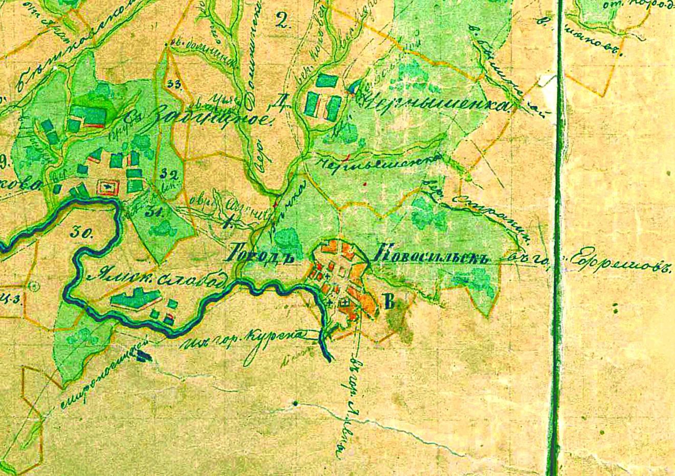 Новосиль на карте 1790 года (271.85КБ)